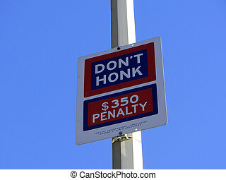 Dont honk sign