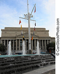 Navy memorial and National Archives, Washington DC