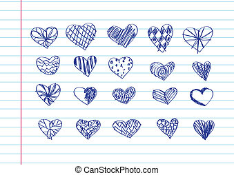 Set of valentine hearts for your de