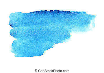 Watercolor brush strokes - Blue watercolor brush strokes -...