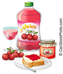 Cherry fruits and its uses - Illustration of the cherry...