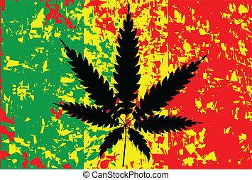 vlag, Jamaicaan,  rastafarian