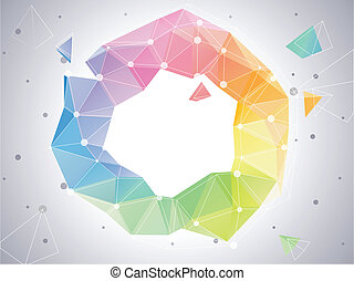 Low-poly Abstract Color Circle