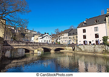 Sunny day in Luxembourg - LUXEMBOURG, LUXEMBOURG - MARCH 09:...