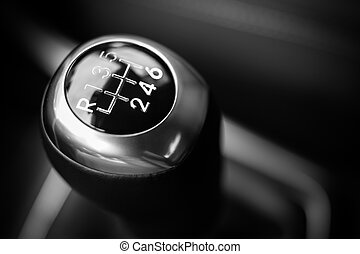 car the button of a gearbox - a car the button of a gearbox