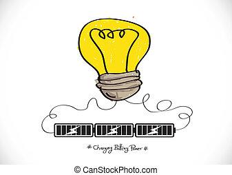 Light bulb Charging Battery Power I