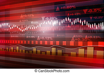 World economics graph Stock market chart Finance concept