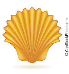 shell sea vector illustration isolated on white background