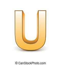 golden letter U