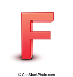 red letter F