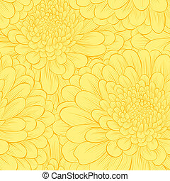 Beautiful seamless pattern with hand-drawn flowers....