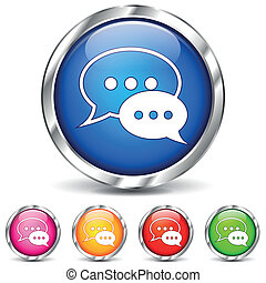 Vector chat icons - Vector illustration of chat icons on...