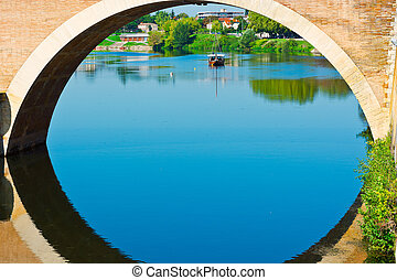 Span of the Bridge in French City of Terrasson