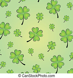Vector clovers background - Vector illustration of clovers...