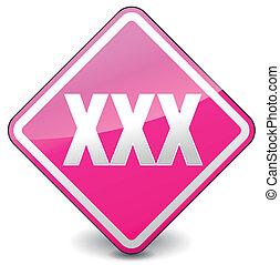 vector xxx square icon - vector illustration of xxx square...