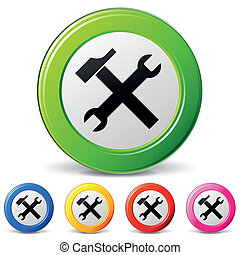 technical support icons - vector illustration of technical...