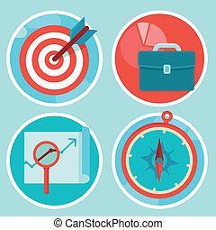 Vector business concepts in flat style - Vector business and...