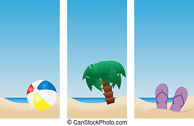 holiday beach banners