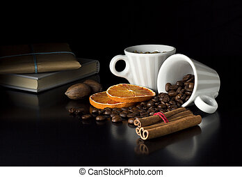 with gift - roasted coffee beans with fruits book and gift...