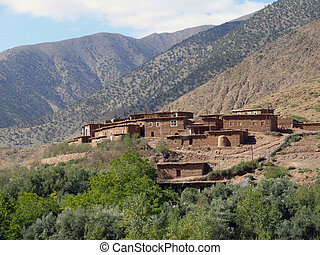 village Atlas Mountains - isolated village in the Atlas...