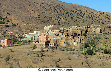 village western sahara - lonely village in Western Sahara...