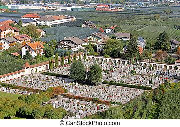 Friedhof (graveyard) in Italy - Friedhof (cemetery,...