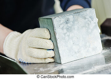 concrete quality test - checking of concrete quality during...