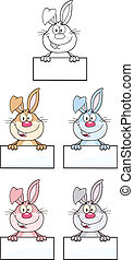 Rabbit Character 3. Set Collection
