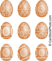 Pysanky - vector  Easter egg illustration.
