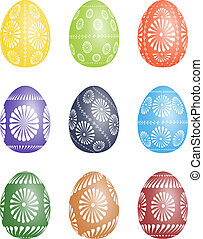 Pysanky - vector Easter egg illustration. - Pysanky -...