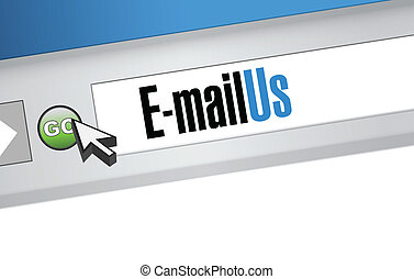 email us sign on a blue internet browser.