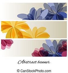 Abstract background with delicate flowers