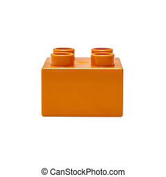 Yellow Building Block - Yellow building block isolated on...