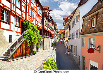 Meersburg - Beautiful ancient city Meersburg at lake...