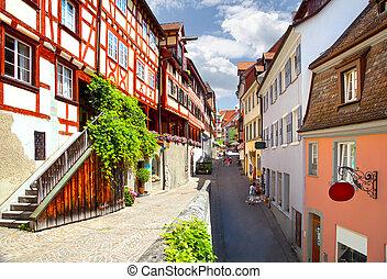 Meersburg - Beautiful ancient city Meersburg at lake...