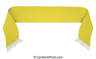 Yellow football scarf - Blank yellow football scarf isolated...