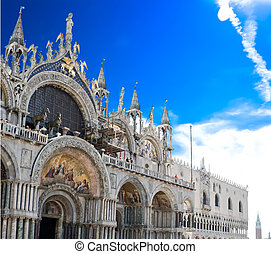 San Marco Cathedral, Venice - View of Saint Mark cathedral...