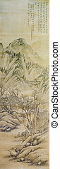 Old chinese painting, middle ages - Old chinese ink painting...