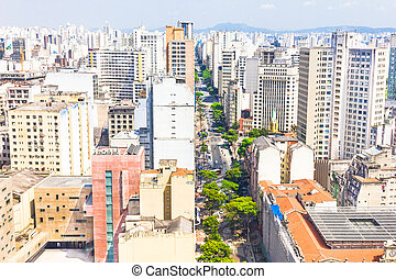 Streets in Sao Paulo, Brazil