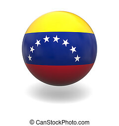 Venezuelan flag - National flag of Venezuela on sphere...
