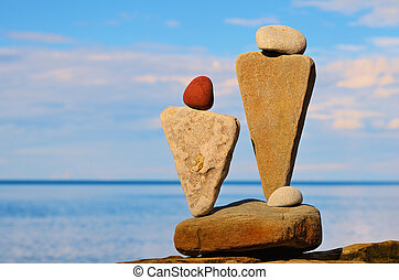 Stone Images - Figurines of stones as symbol of man and...