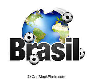 Football Brasil planet earth