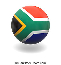 South Africa flag - National flag of South Africa on sphere...