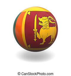 Sri Lanka flag - National flag of Sri Lanka on sphere...