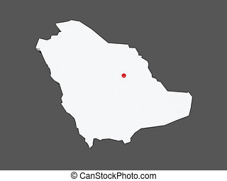 Map of Saudi Arabia.