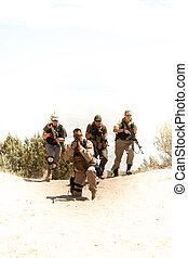 Special Forces tactical team - A special forces military...