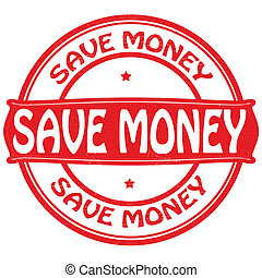 Save money - Stamp with text save money inside,vector...