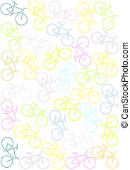Background with bikes - Colorful background with bikes