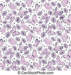 Vintage butterfly seamless