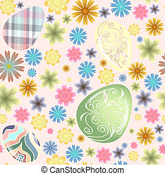 seamless pattern Easter eggs